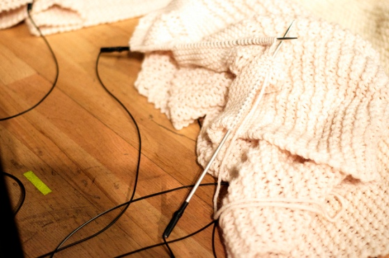 'Killing Time' prepared knitting needles - JobinaTinnemans